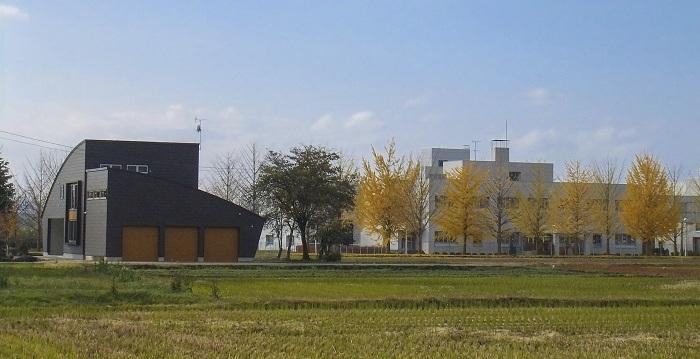いちょう並木の家の写真