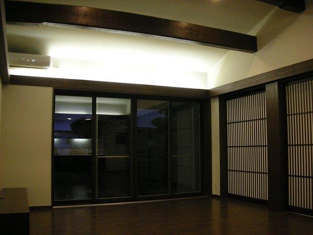 連格子の家の写真