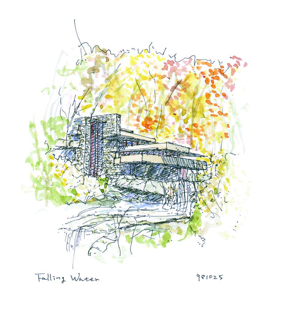 「落水荘に観る自然と融合する建築」~水音の向こうに見えたものは~ フランク・ロイド・ライトのイメージ