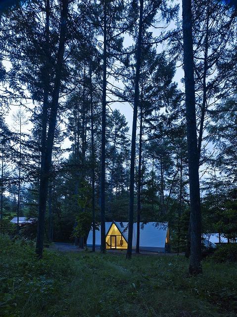 安曇野の山荘の写真