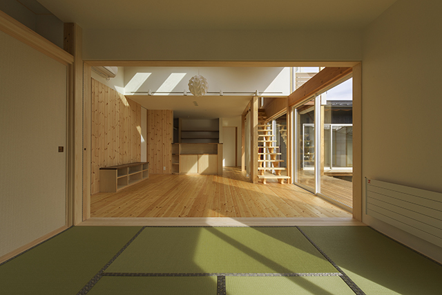 焼杉の家の写真