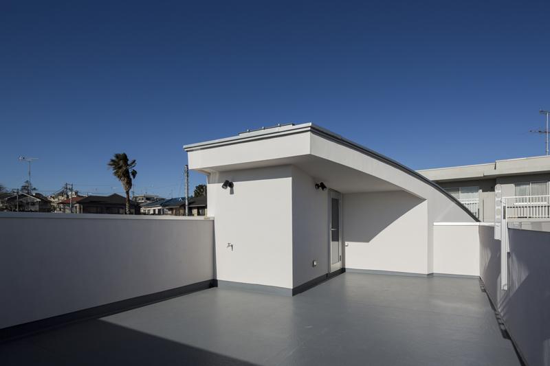 高台の家の写真