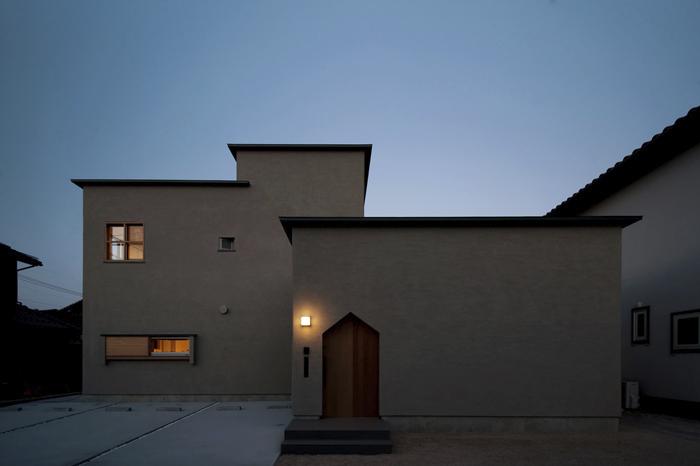 パラペット小庇の家の写真