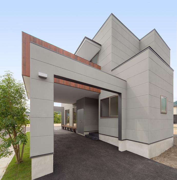 路地のある家の写真