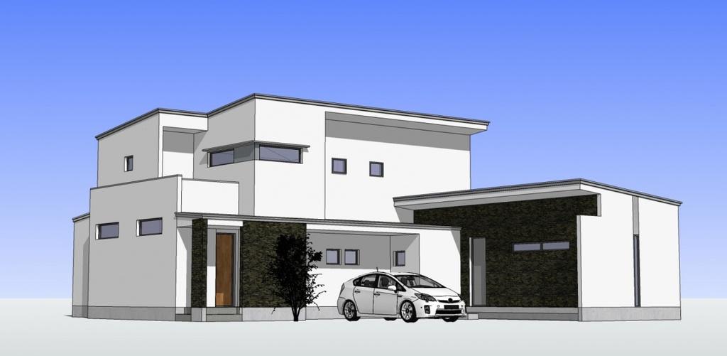「事務所併用住宅」完成見学会のイメージ
